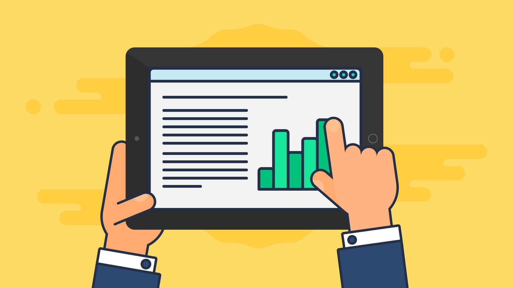 modèle Web de site de tablette ou de formulaire d'article vecteur