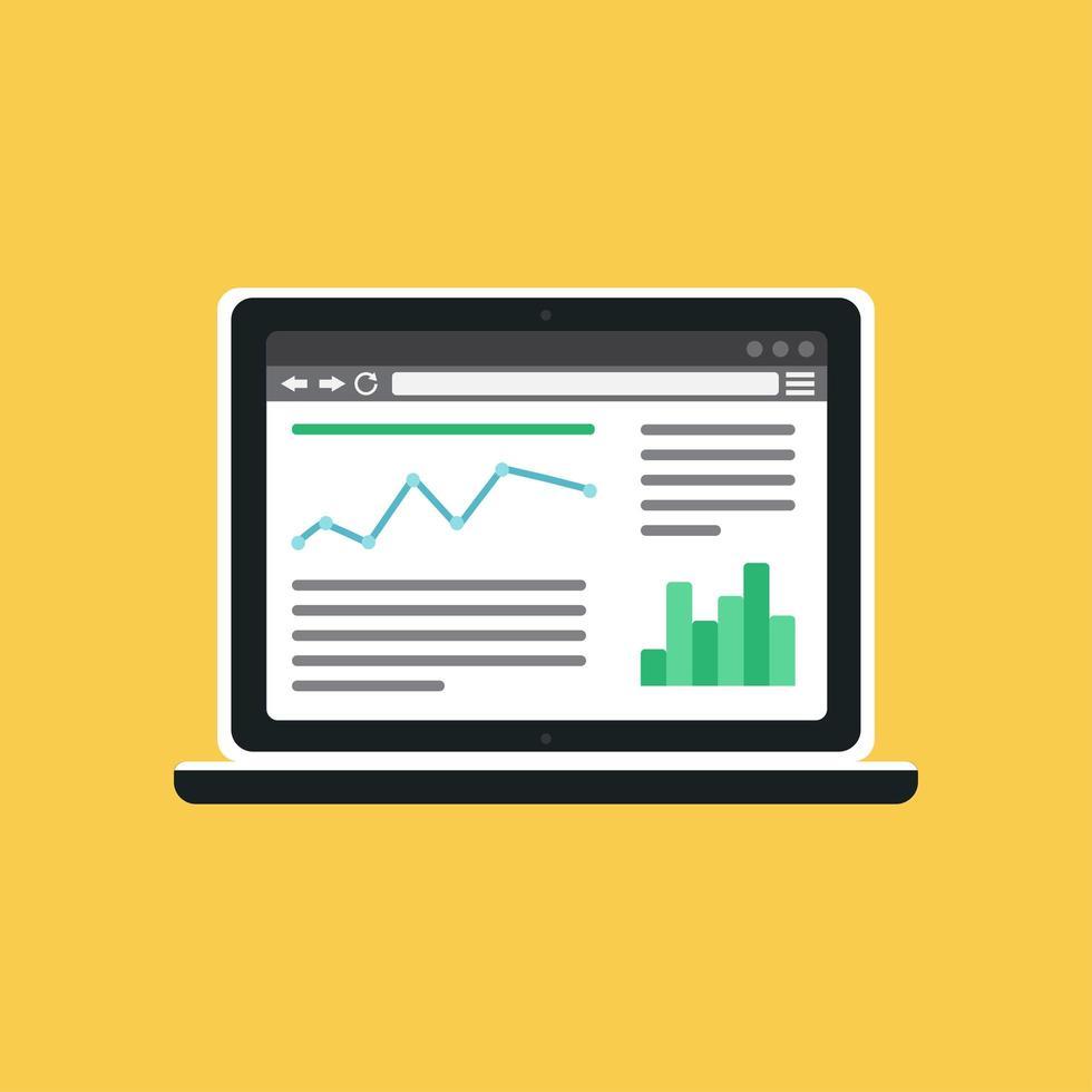 modèle Web de site informatique ou de formulaire d'article vecteur