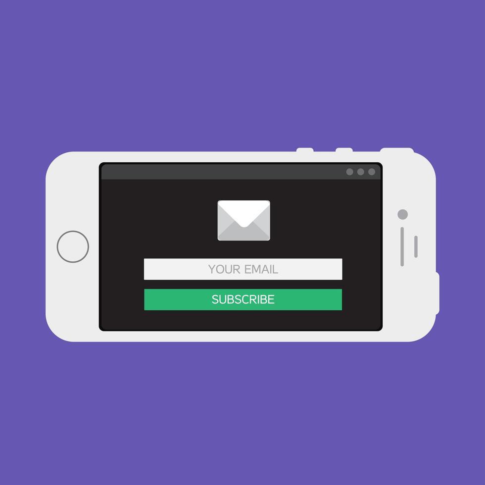 modèle Web de formulaire de courrier électronique pour smartphone vecteur