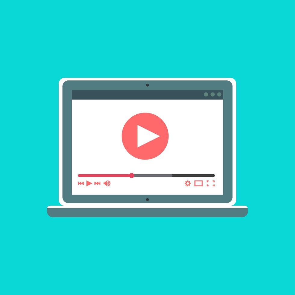 modèle Web de formulaire vidéo pour ordinateur portable vecteur