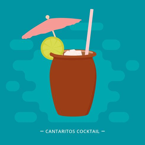 cantaritos cocktail vector illustration