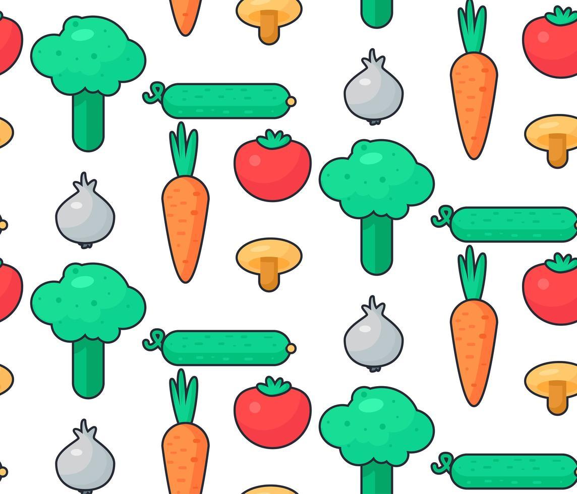 salade de légumes frais vecteur