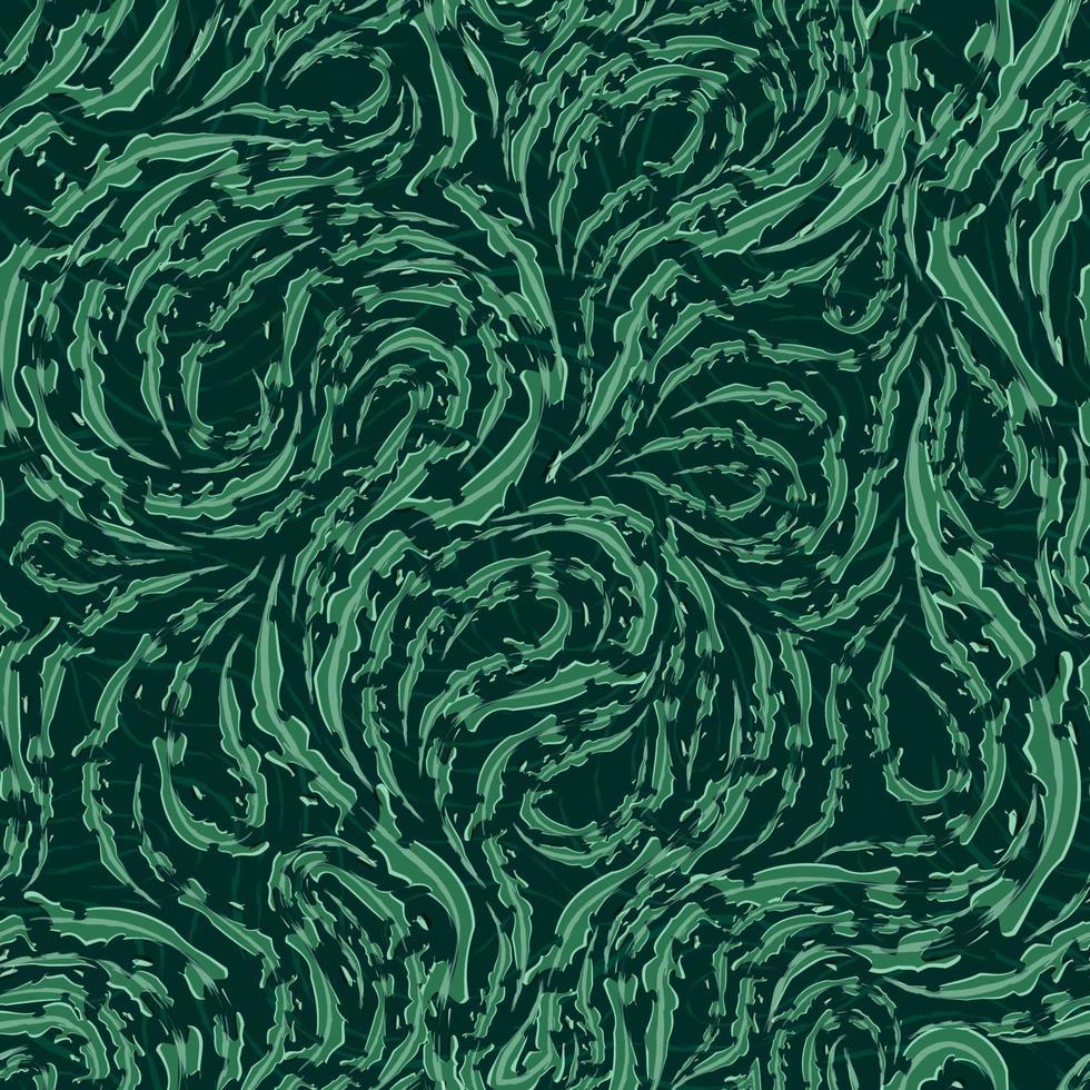 modèle vectorielle continue de lignes fluides vertes lisses avec bords déchirés vecteur