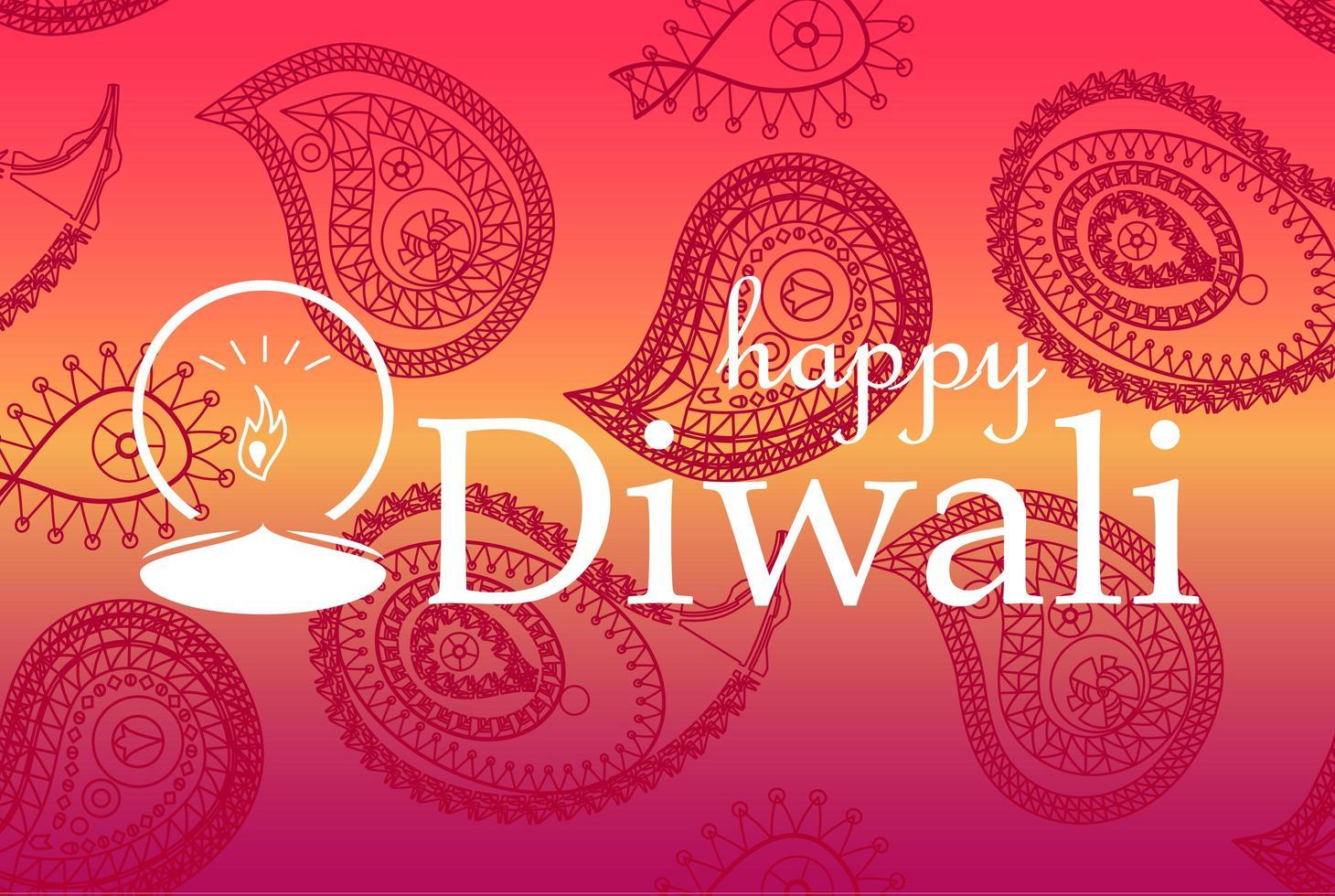 bannière de célébration joyeux diwali vecteur