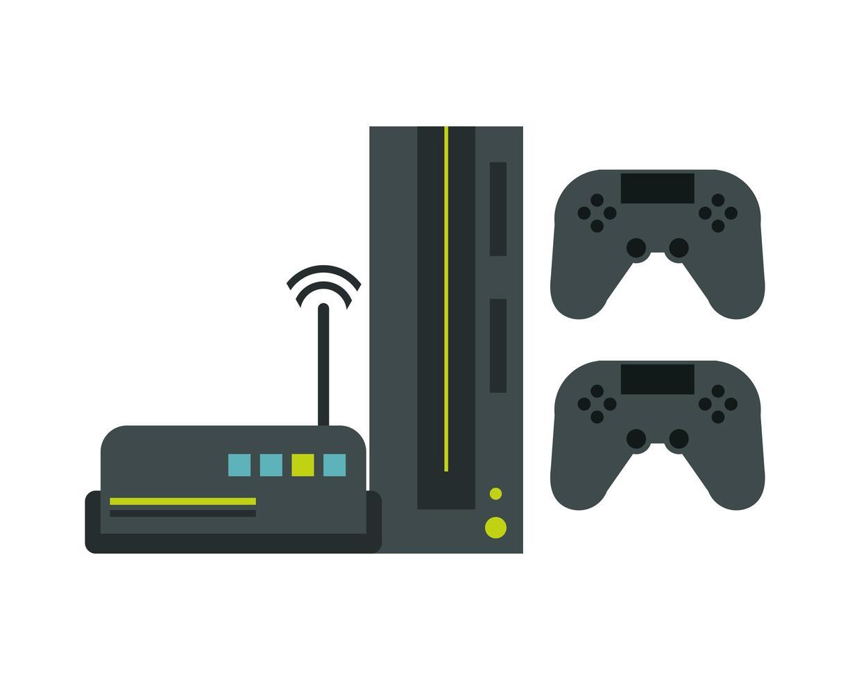 routeur wifi avec technologie de périphériques de console de jeux vidéo vecteur