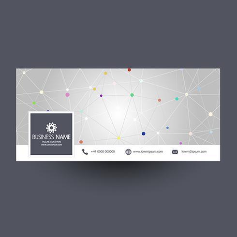 Couverture de médias sociaux avec design techno vecteur
