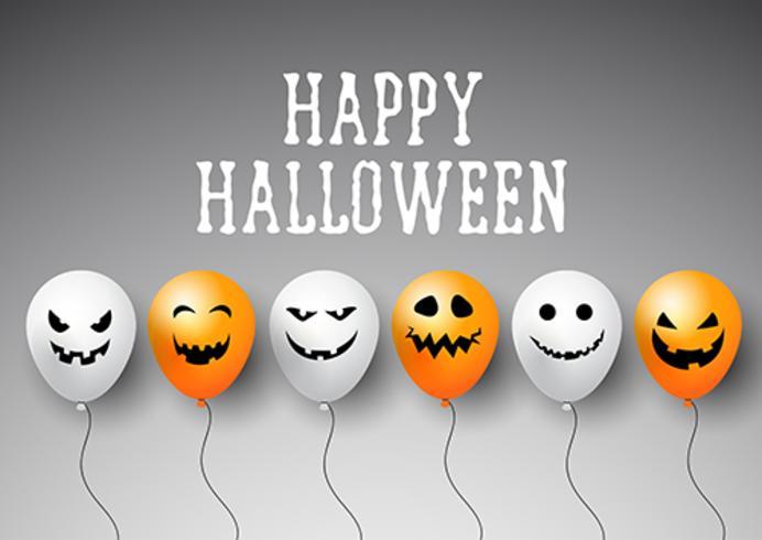 Fond de ballons d'Halloween vecteur