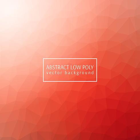 Design orange low poly vecteur