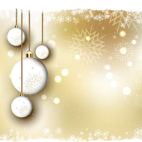 Fond de Noël avec des boules vecteur