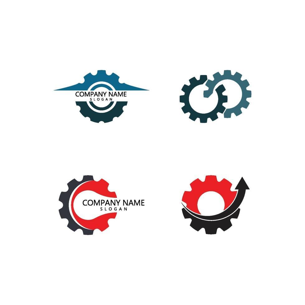 modèle de logo engrenage vecteur