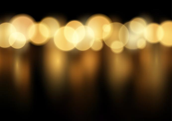 Fond de lumières bokeh or vecteur