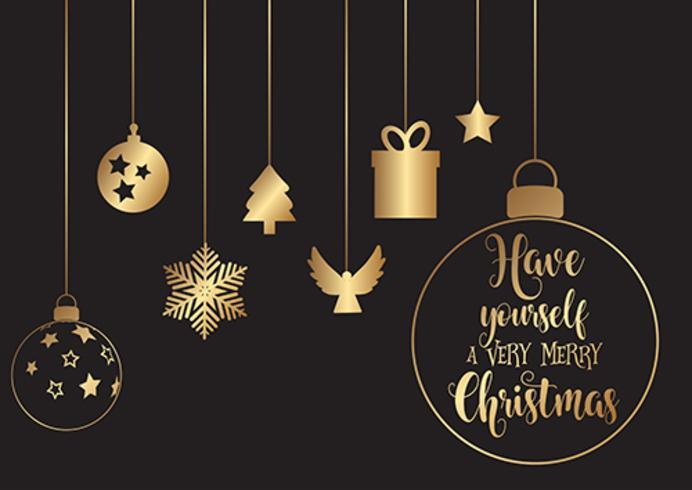 Accrocher des décorations de Noël vecteur