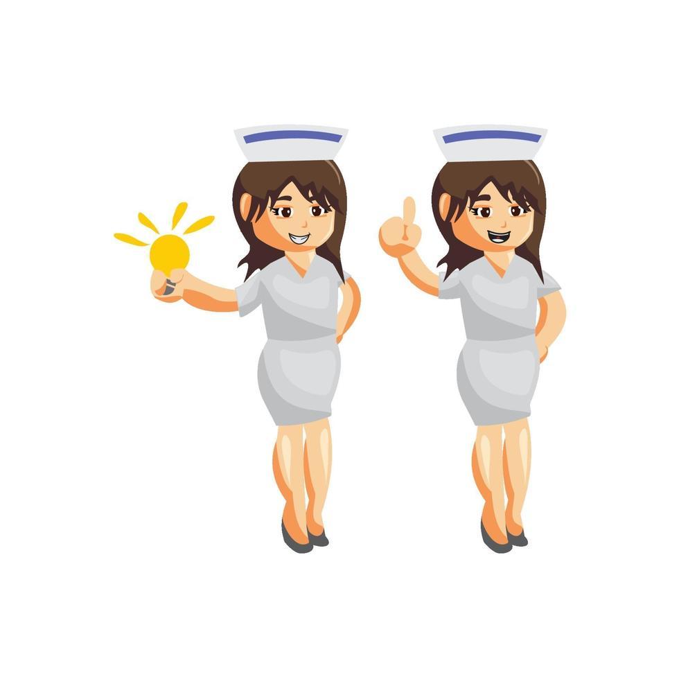 jeu de caractères infirmière femme hôpital vecteur