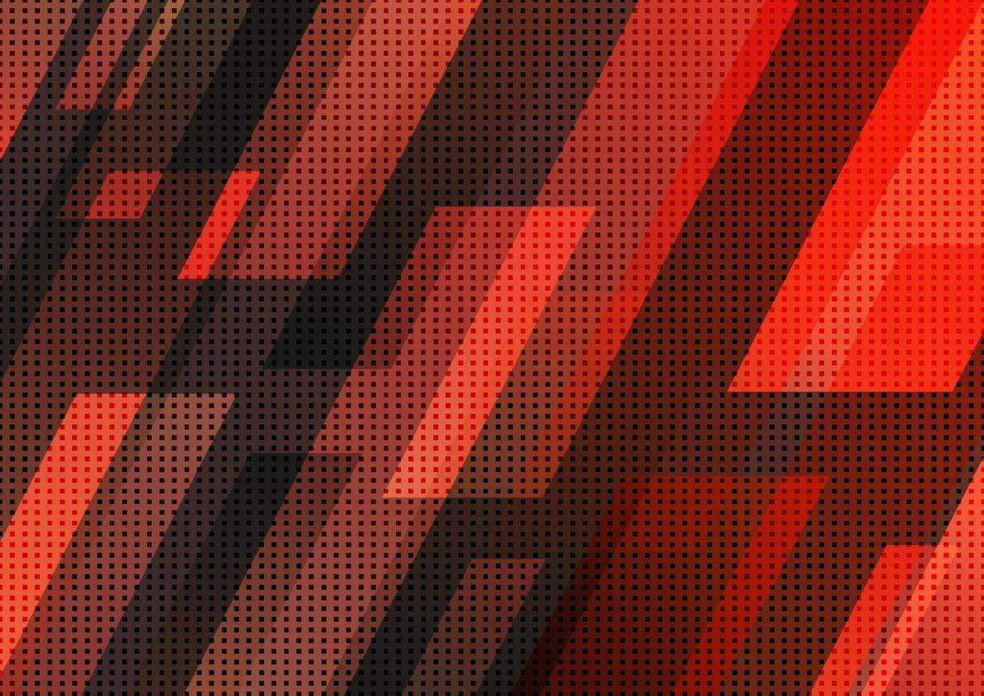 concept de technologie abstraite, motif de rayures diagonales géométriques rouges et noires. fond de conception moderne. vecteur