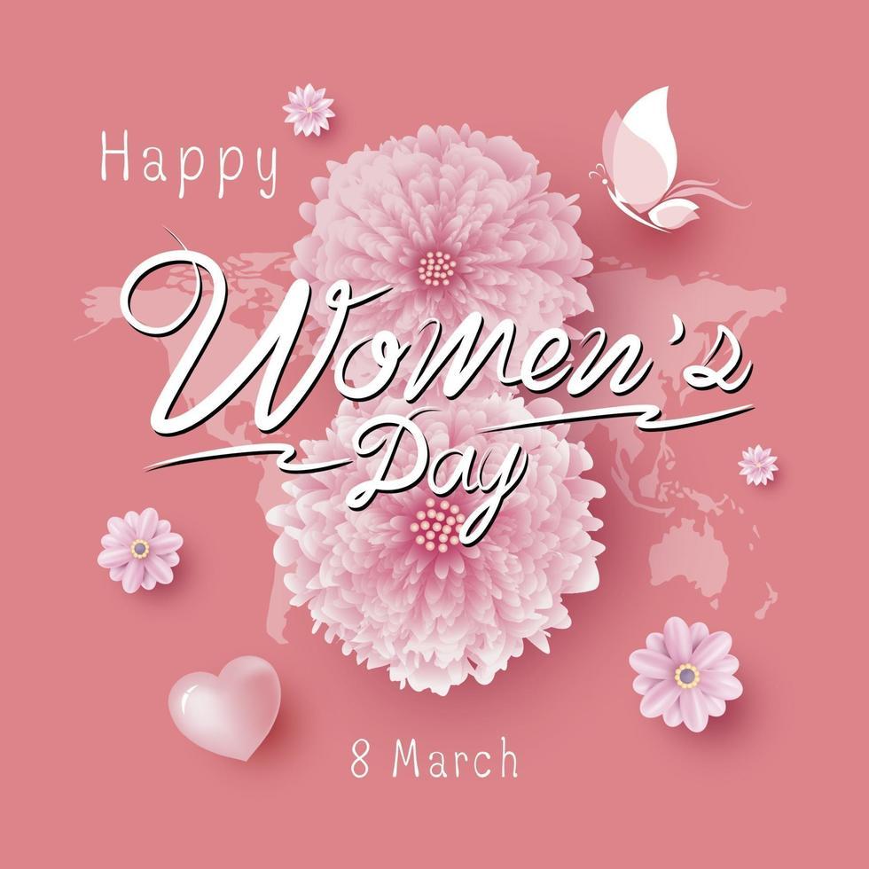 Illustration vectorielle de la journée des femmes du 8 mars vecteur