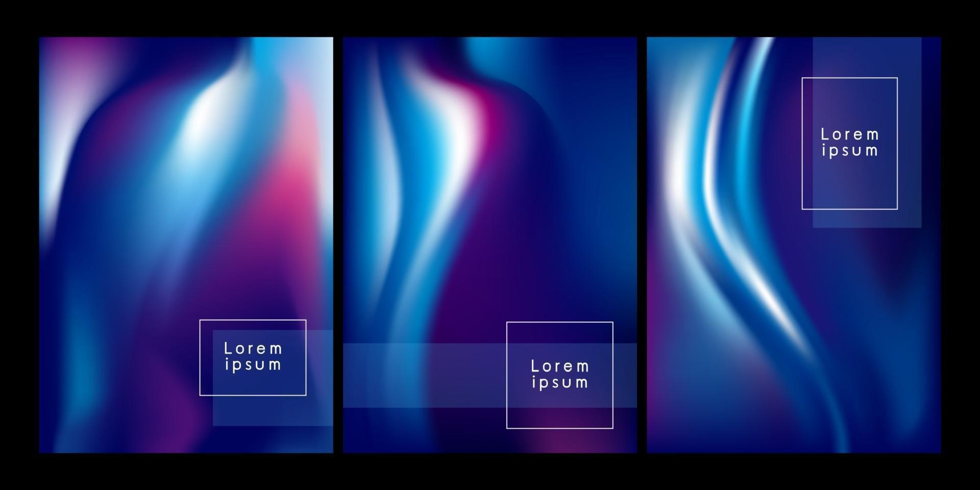 illustration vectorielle de couleur abstraite flux fond vecteur