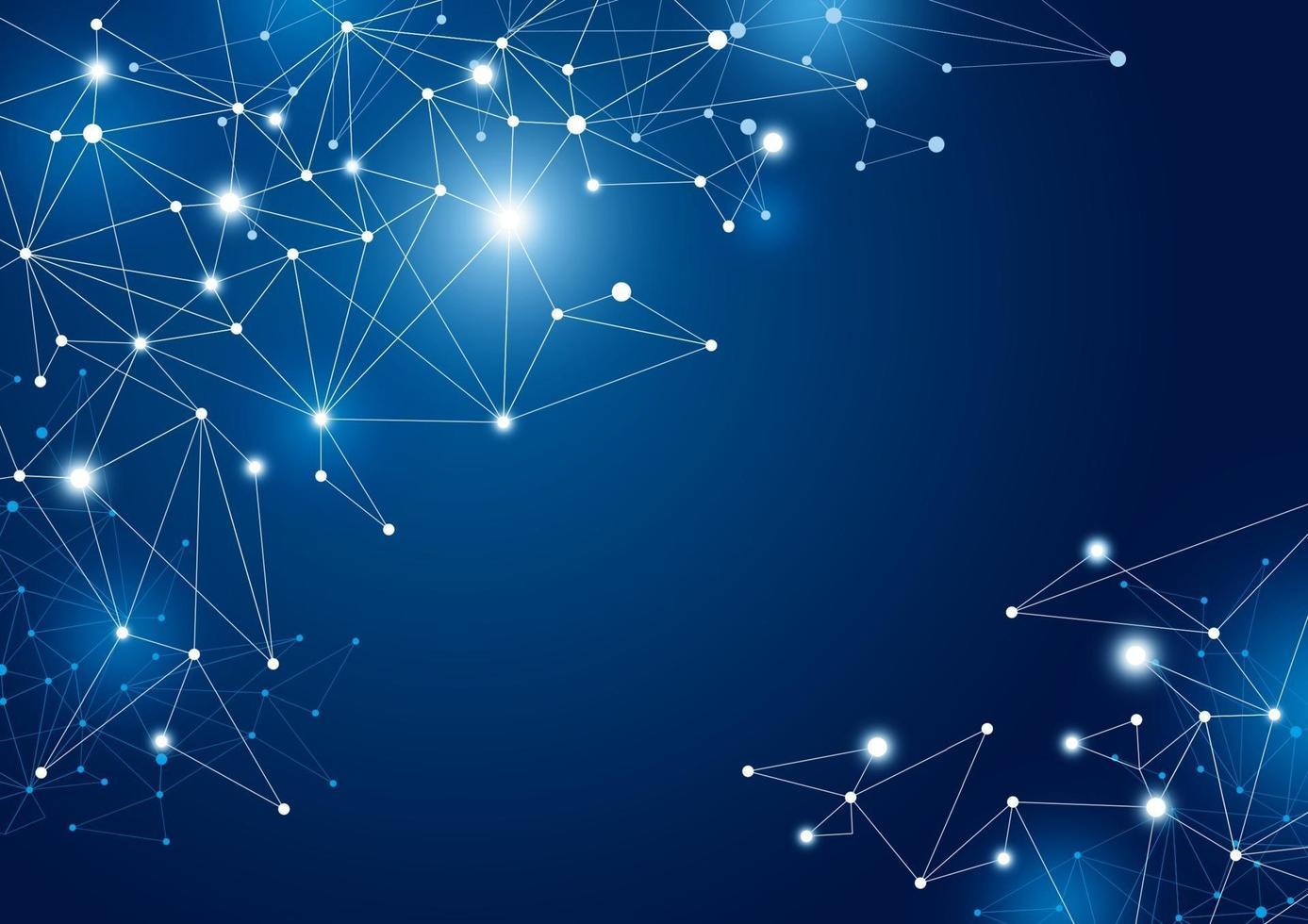 illustration vectorielle de fond abstrait connexion réseau mondial vecteur