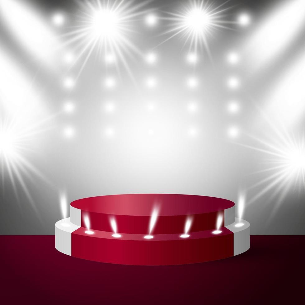 podium de scène avec illustration vectorielle d'éclairage vecteur