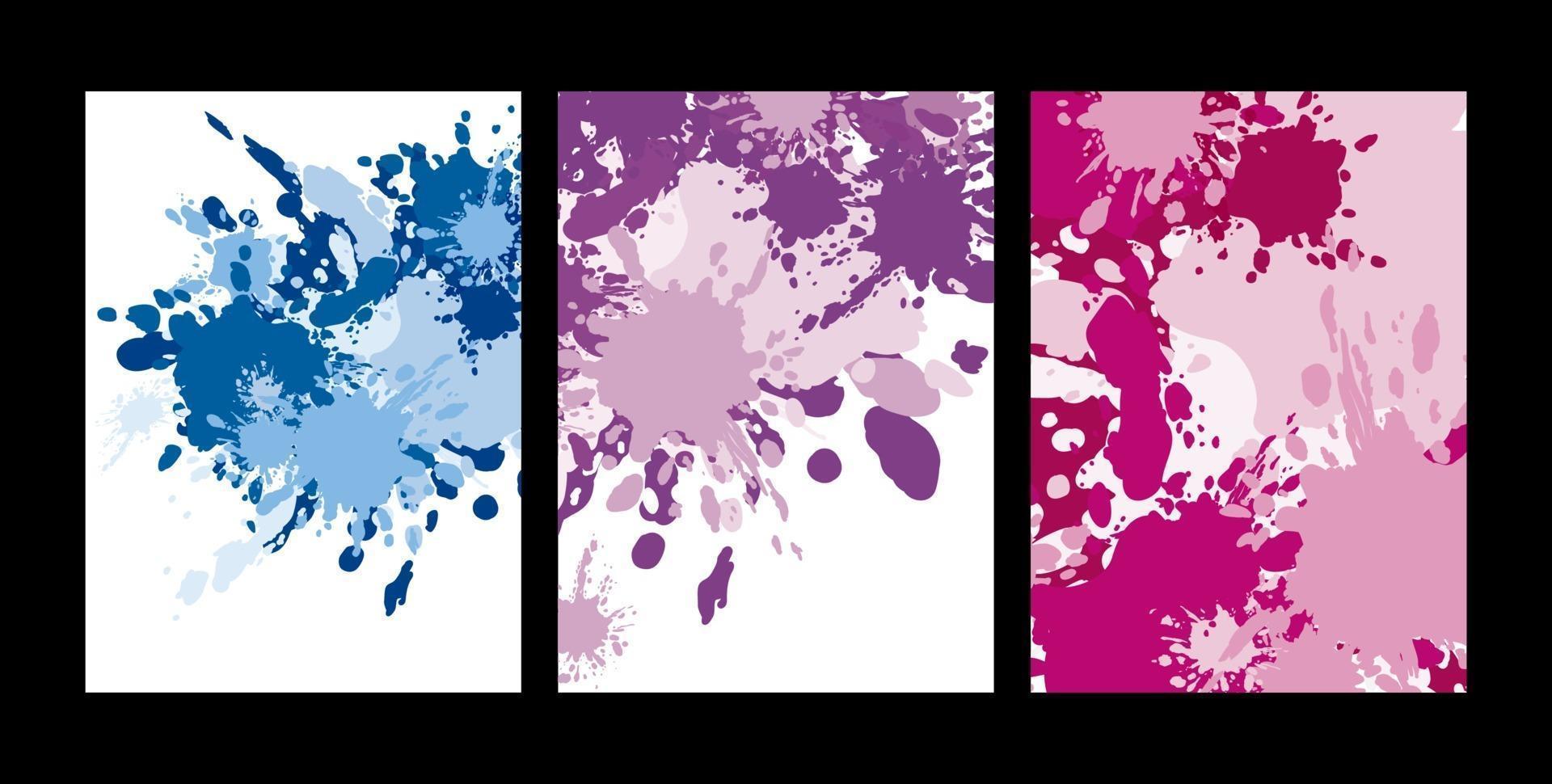 splash de couleur abstraite sur illustration vectorielle fond blanc vecteur