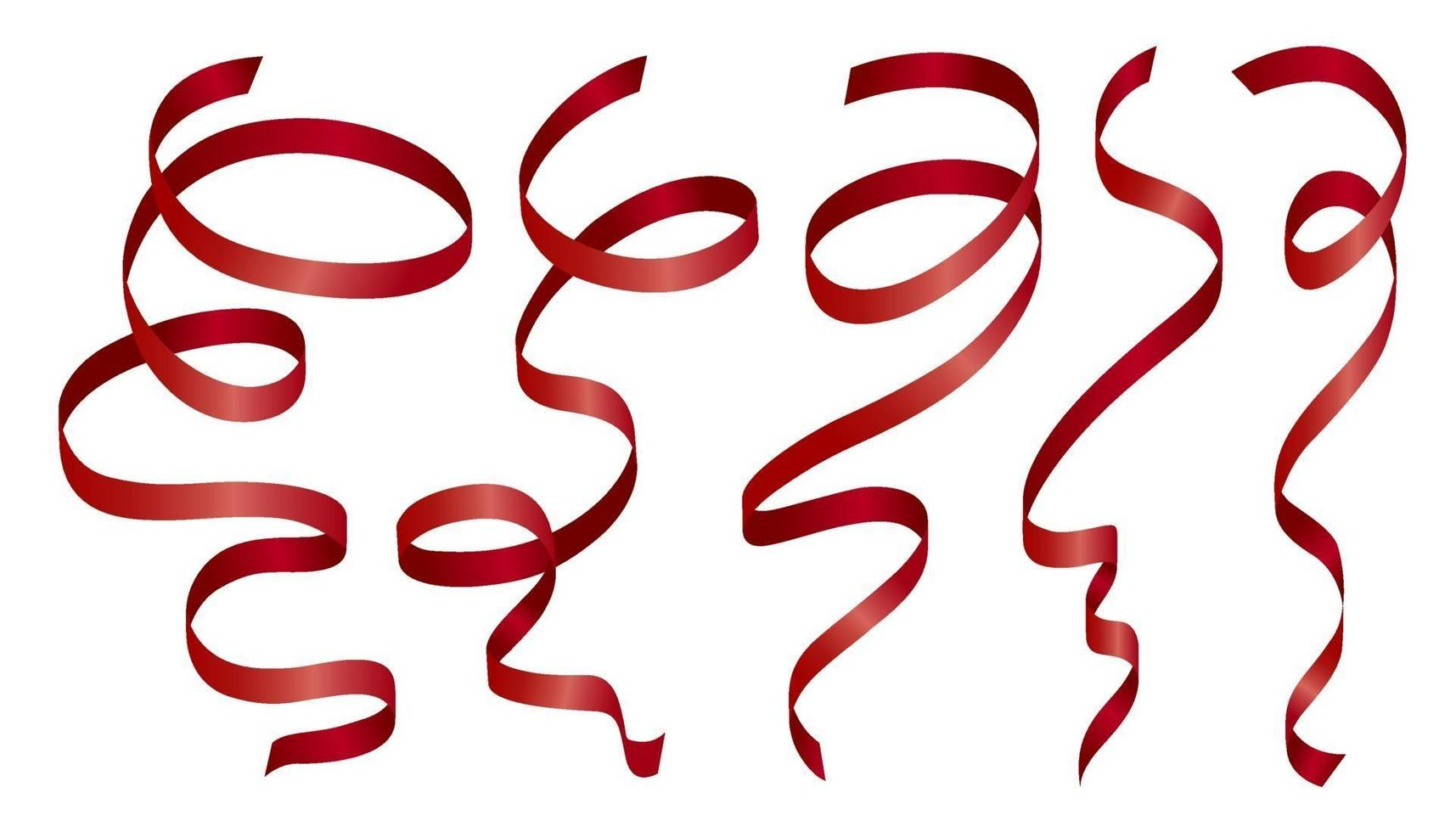 ruban rouge sur illustration vectorielle fond blanc vecteur