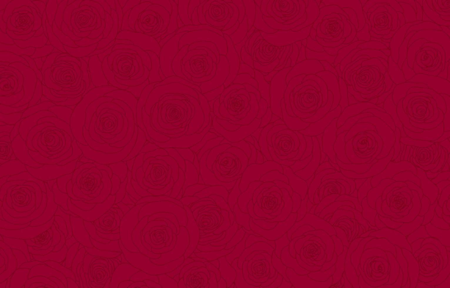 illustration vectorielle de fond de fleurs roses rouges vecteur