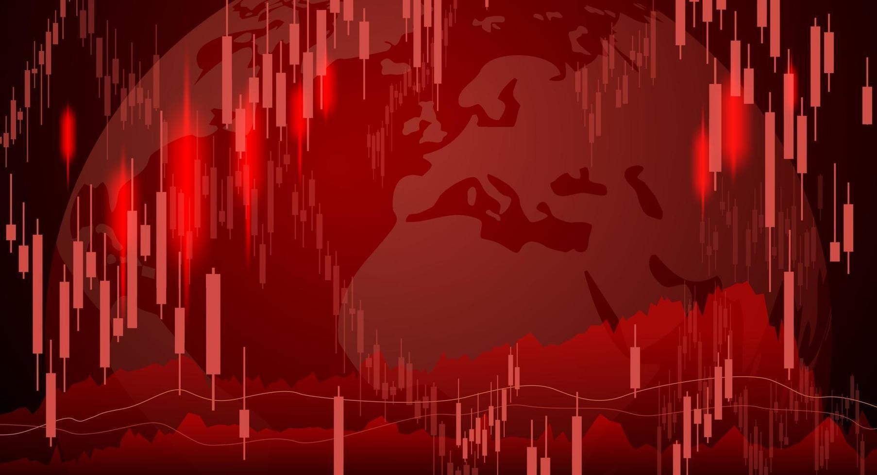 conception de fond de marché boursier d & # 39; illustration vectorielle de crise économique vecteur