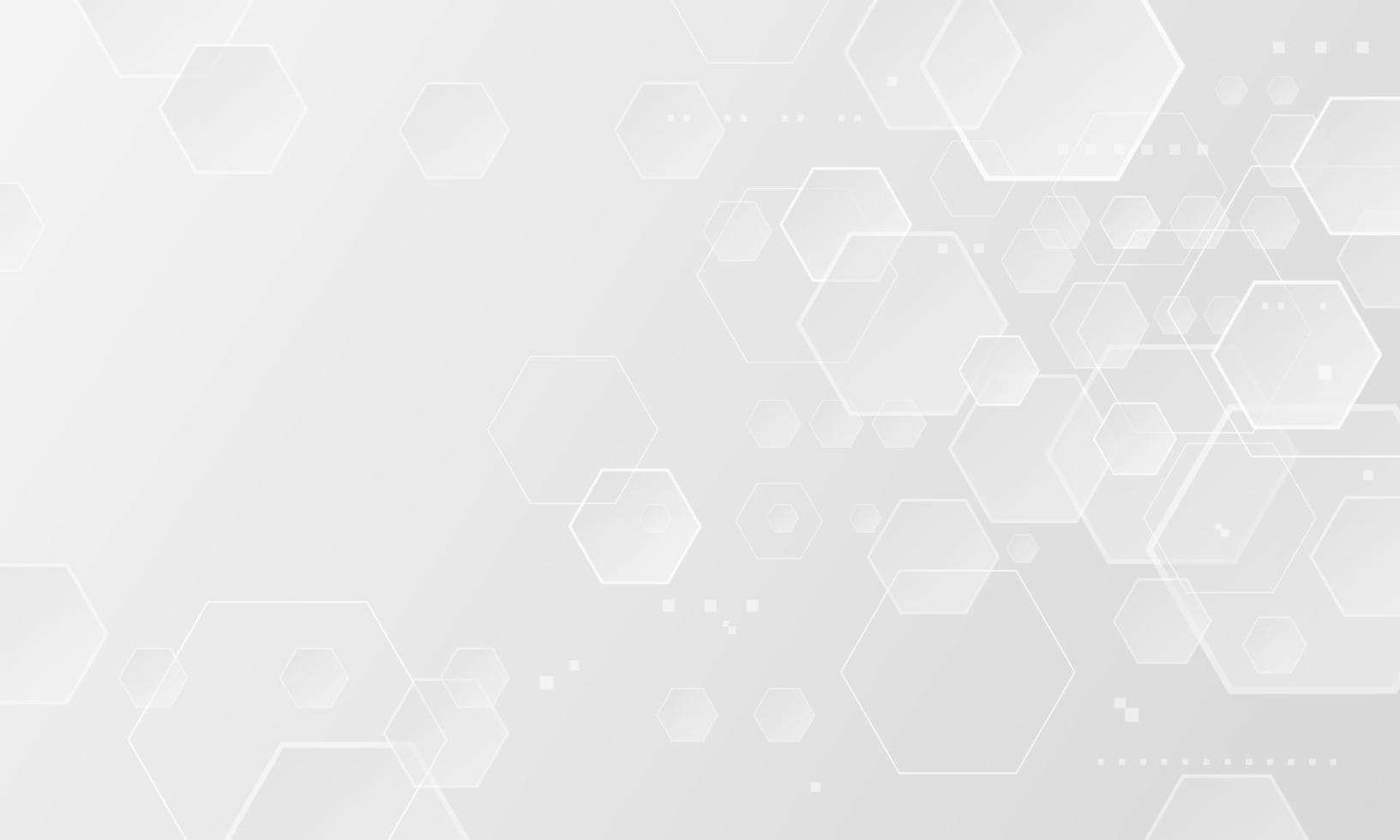 abstrait hexagone avec illustration vectorielle de copie espace vecteur