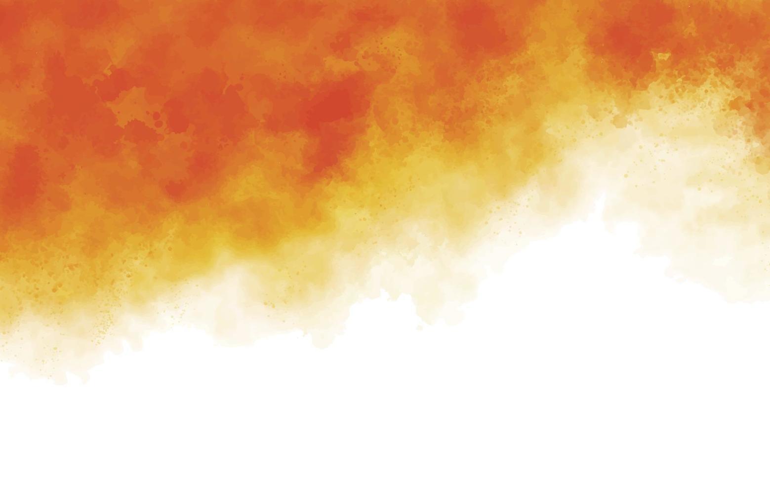 illustration vectorielle de fond de texture aquarelle pinceau orange vecteur