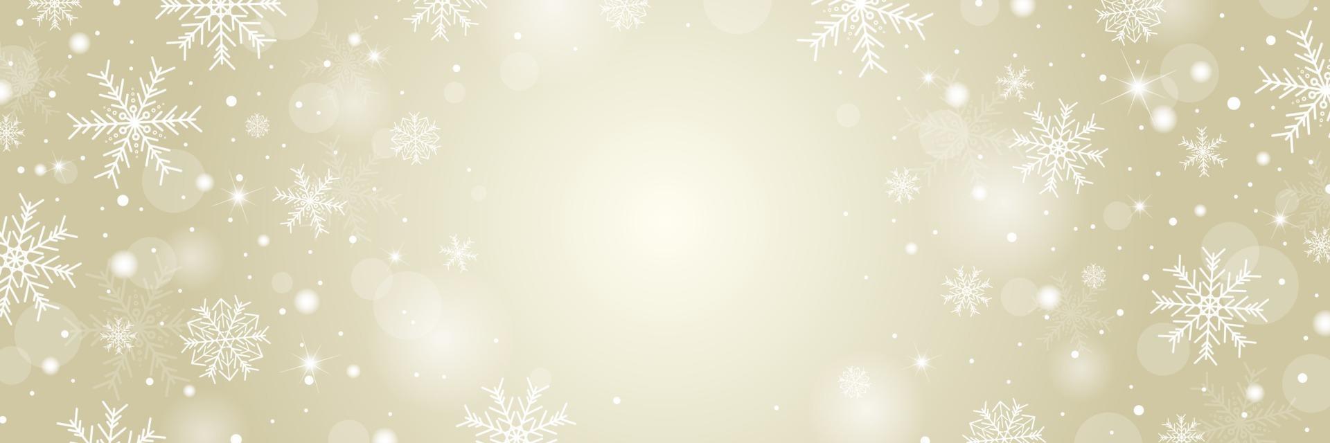 conception de fond Noël et hiver de flocon de neige blanc et neige avec illustration vectorielle de copie espace vecteur