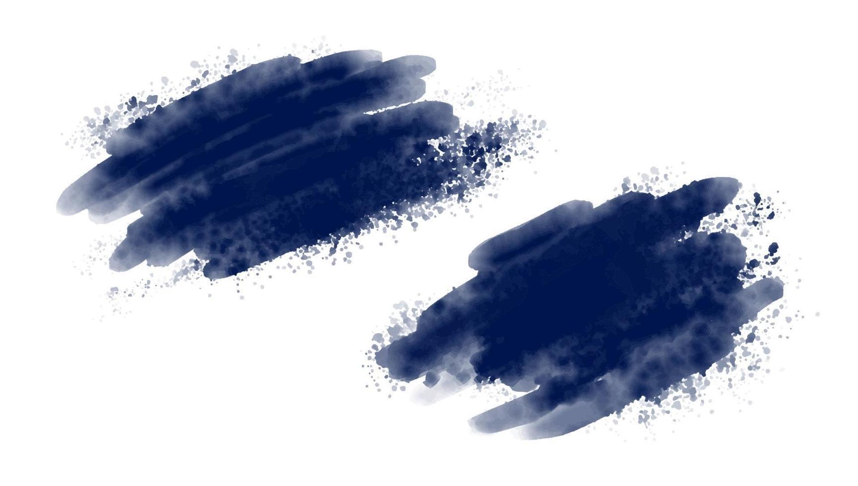 pinceau aquarelle bleu sur illustration vectorielle fond blanc vecteur