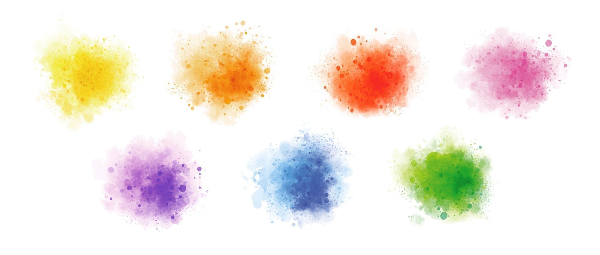 aquarelle colorée sur illustration vectorielle fond blanc vecteur
