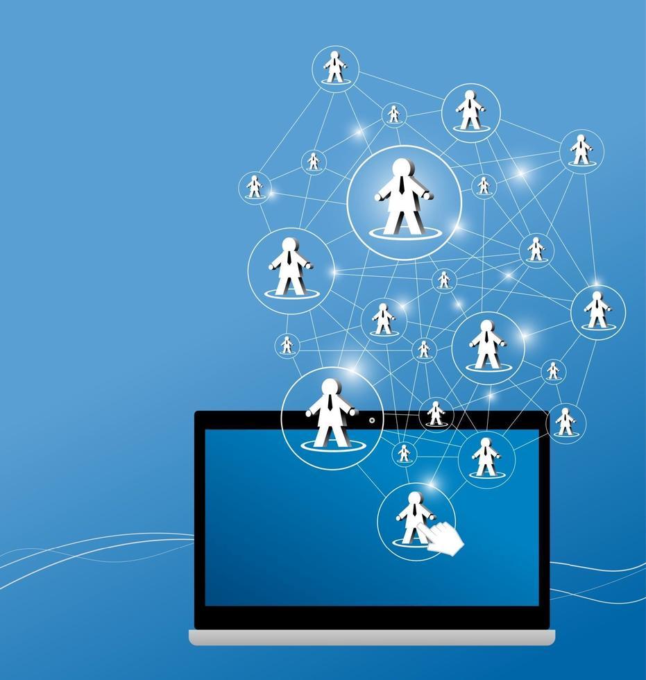 illustration vectorielle de conception de réseau social vecteur