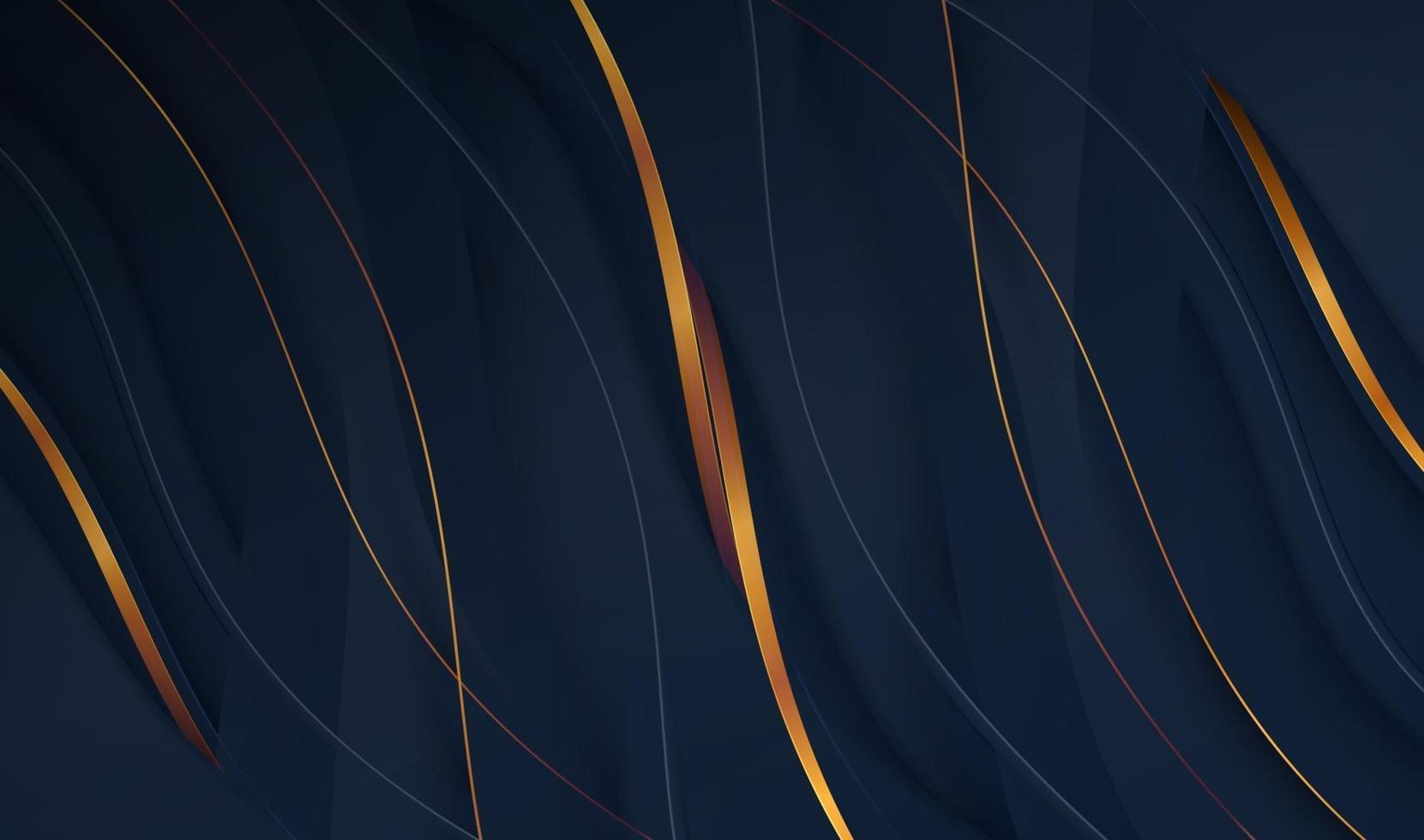 Papier coupé fond d'or de luxe avec texture en métal 3d abstrait, pour carte-cadeau, affiche sur le modèle d'affiche de mur, page de destination, ui, ux, livre de couverture, bannière, vecteur