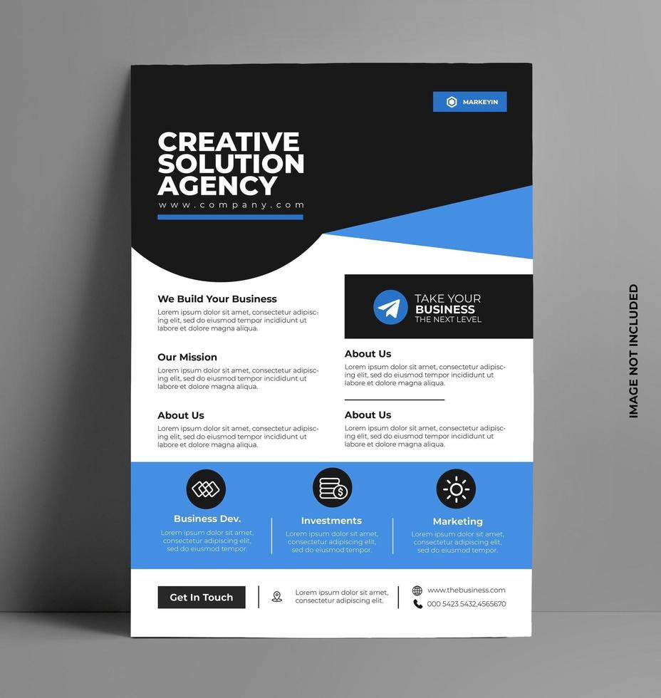 modèle de mise en page flyer brochure. vecteur