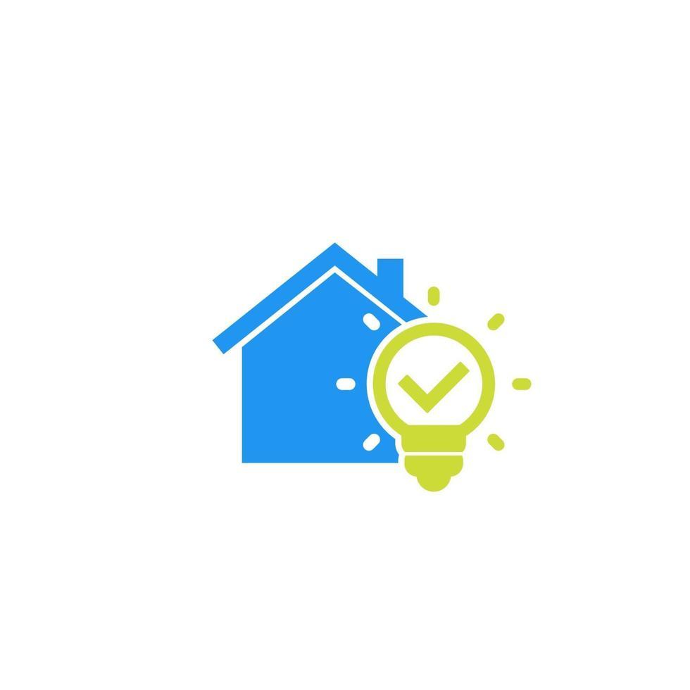 icône de vecteur maison et ampoule .eps