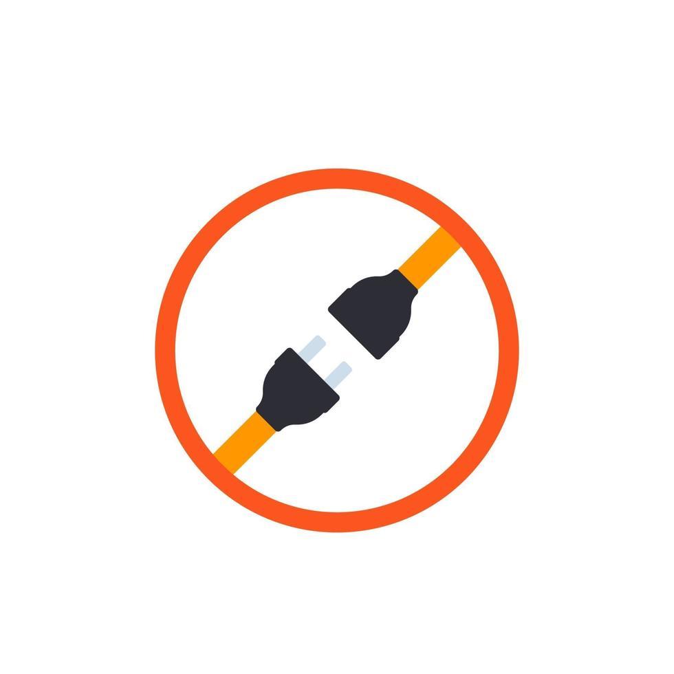prise électrique avec connecteur d'alimentation, vector icon.eps