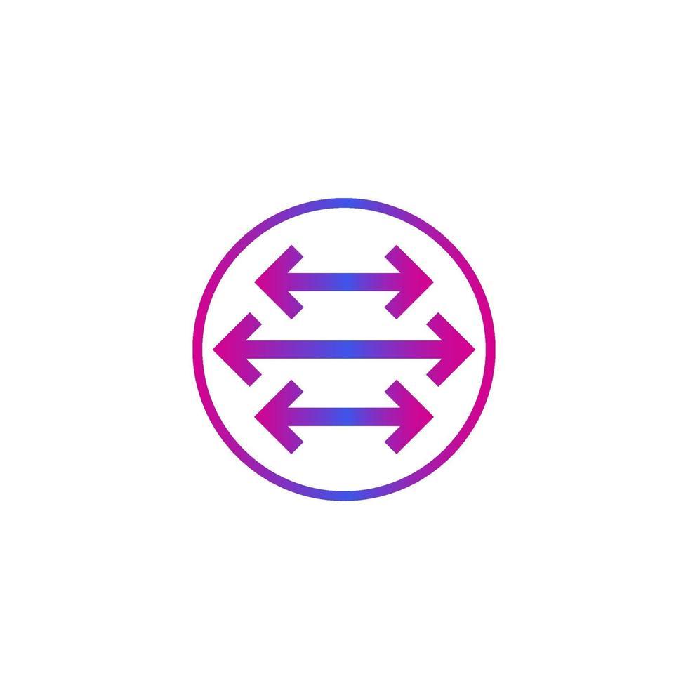 flèches pointées dans deux directions, vector.eps vecteur