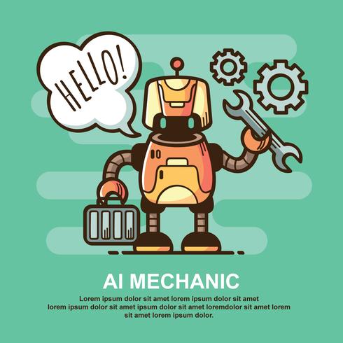 IA Mechanic Illustration vecteur