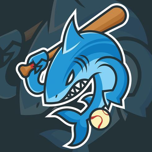 Illustration vectorielle de baseball mascotte vecteur