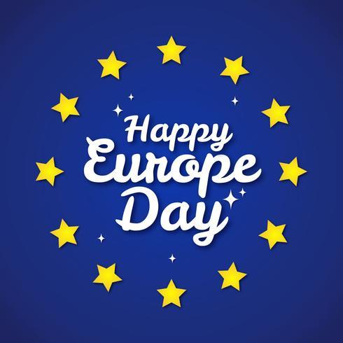 Bonne journée de l'Europe vecteur