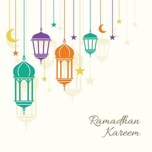 Fond de Ramadhan Kareem vecteur