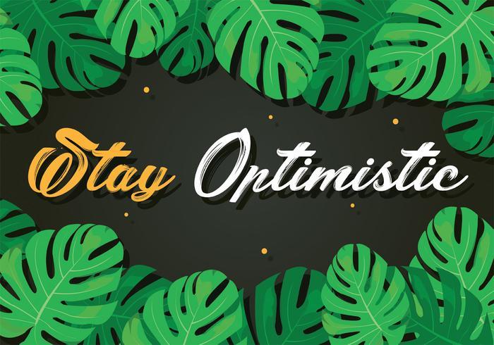Rester vecteur de typographie optimiste