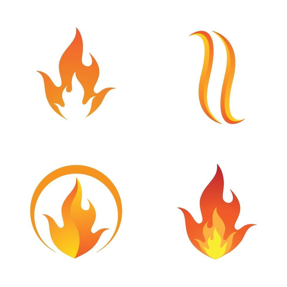 images de logo de feu vecteur