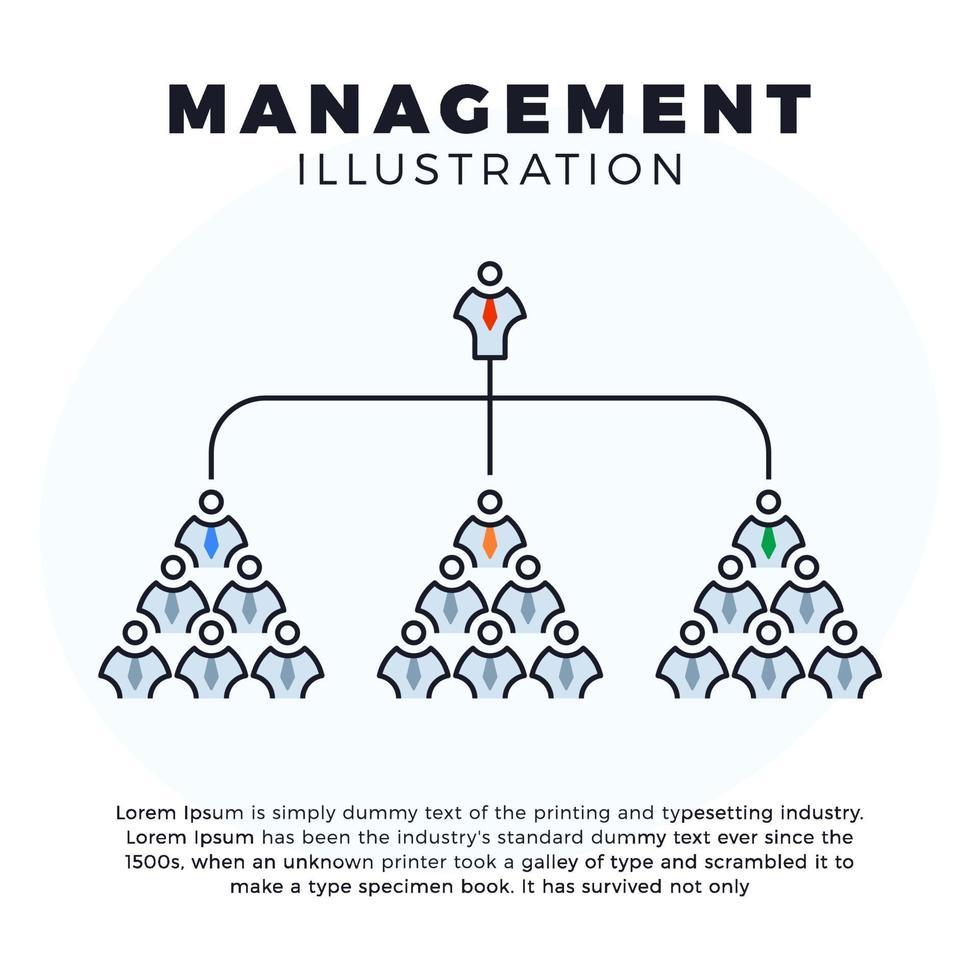 illustration de gestion organigramme entreprise vecteur
