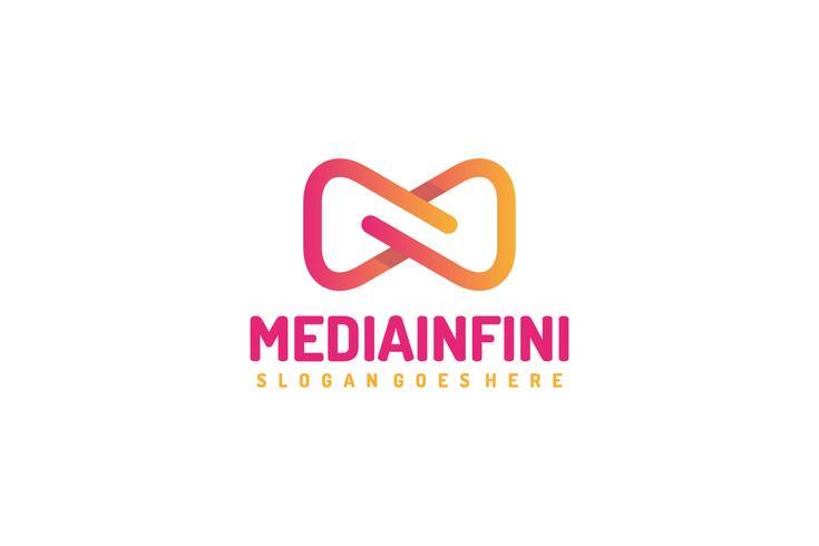 logo media infinity vecteur