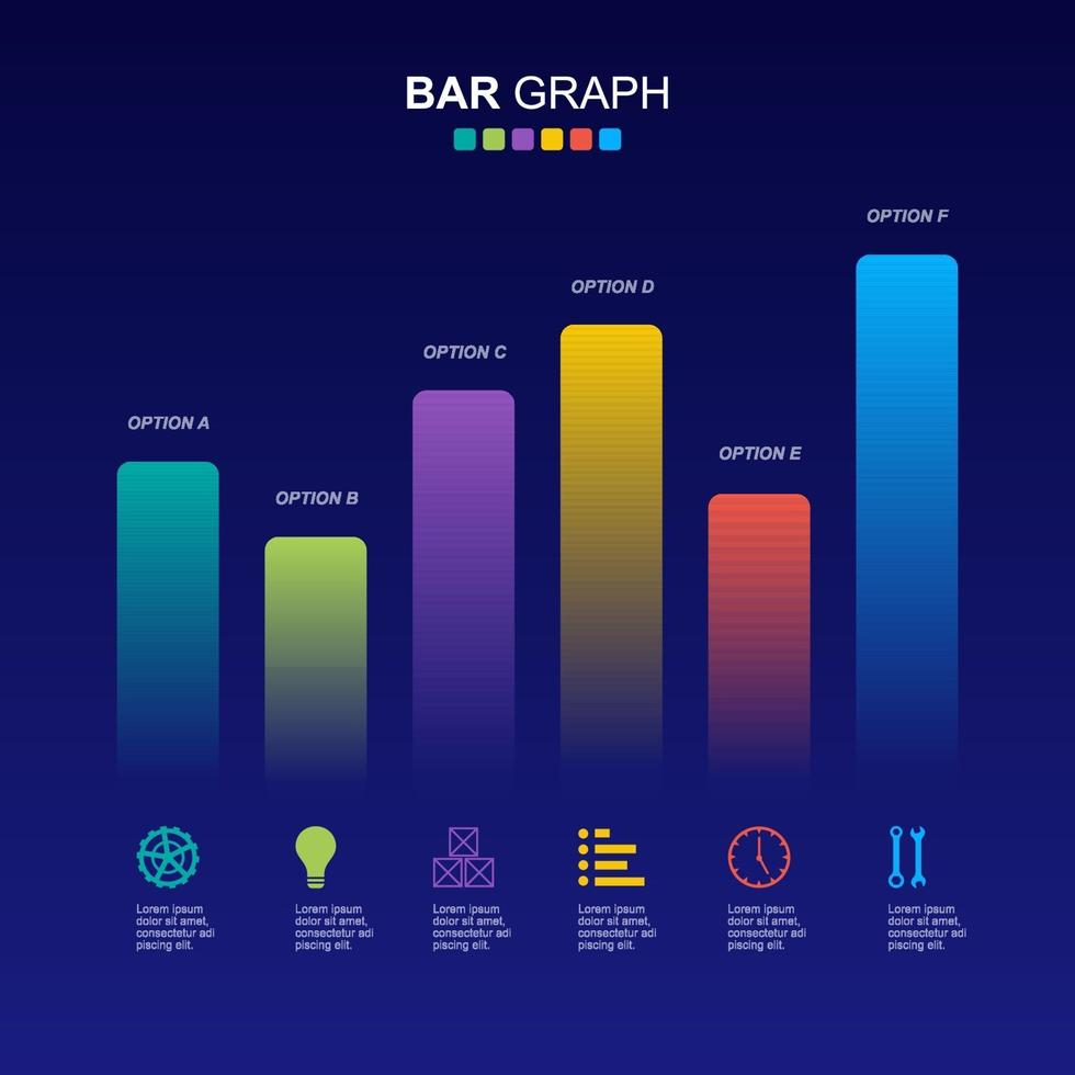 diagramme à barres pour illustration de l & # 39; analyse financière vecteur