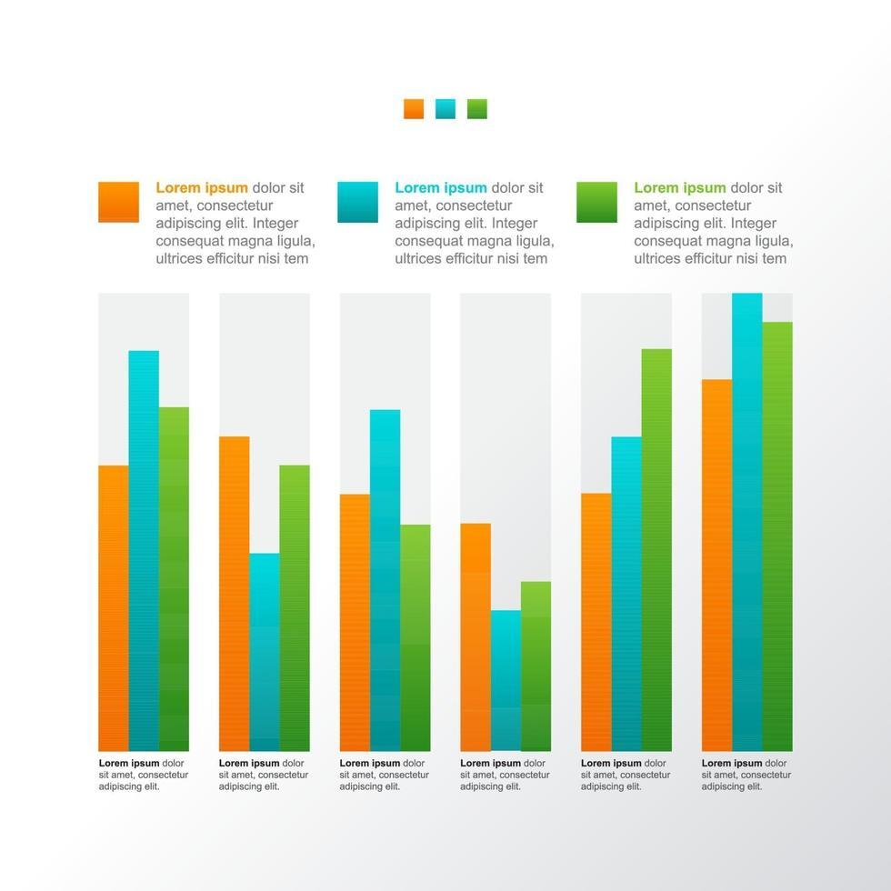 graphique à barres montrant la reprise financière après la crise infographique vecteur