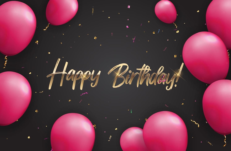couleur brillant joyeux anniversaire ballons fond de bannière vecteur