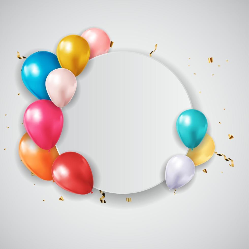 invitation de fête d'anniversaire abstraite avec une place vide pour la photo. illustration vectorielle vecteur