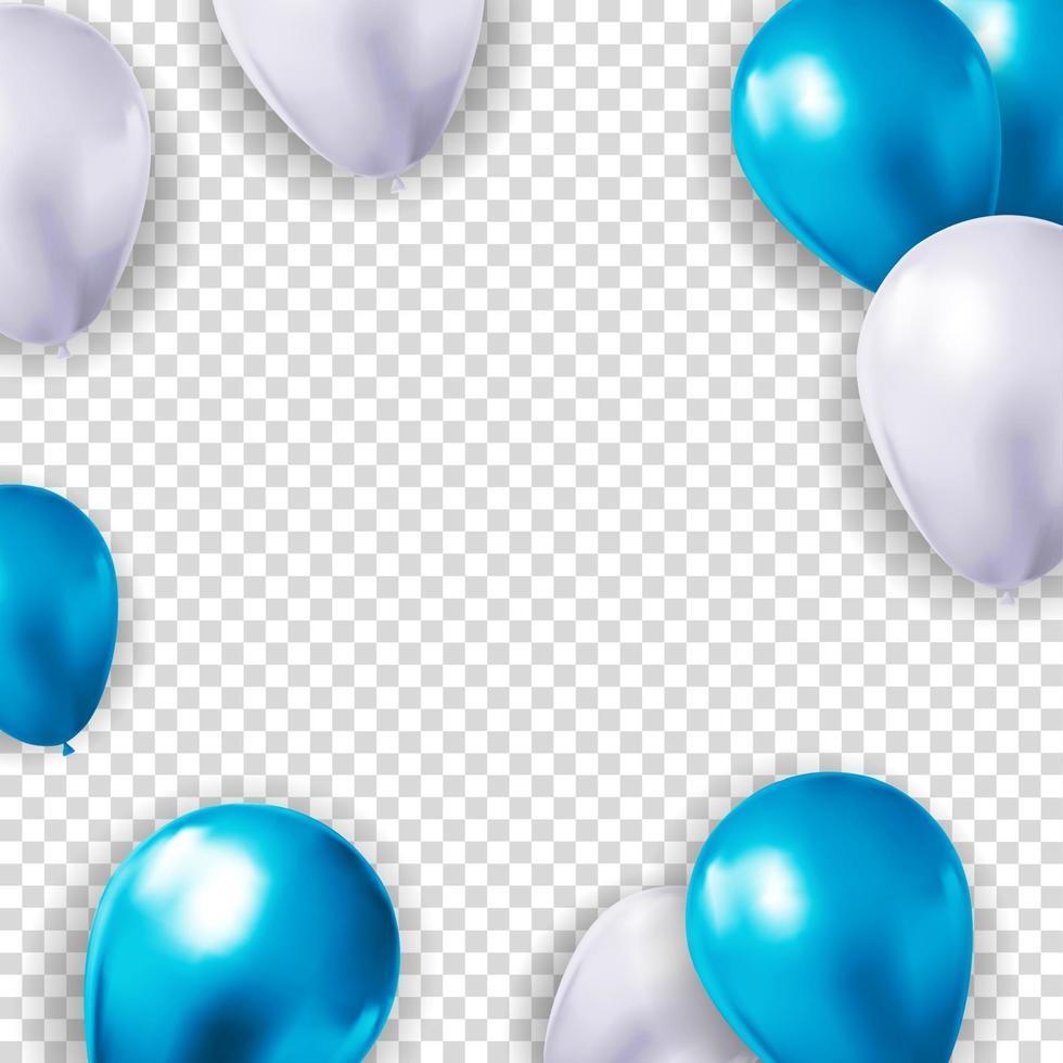 fond de ballon 3d réaliste pour fête, vacances, anniversaire, carte de promotion, affiche. illustration vectorielle vecteur